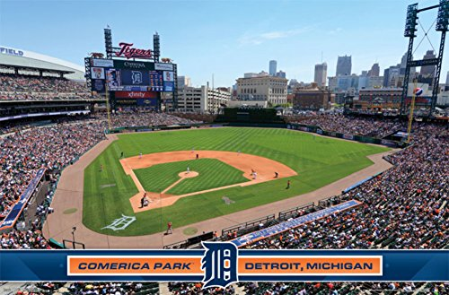 Detroit tigers comerica park 14 poster 34 x 22in for Comerica park wall mural