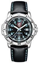 Luminox Colormark Black Dial Stainless Steel Black Leather Ladies Watch A.7253