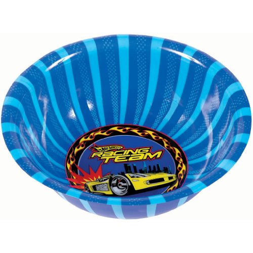 "Amscan Hot Wheels Speed City Birthday Party Bowl, 3.6 x 11.5"", Blue - 1"