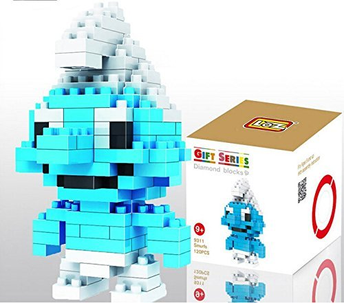 LOZ Diamond Mini Block Toys Cute Cartoon Toys Action Figure - SMURFS - 1