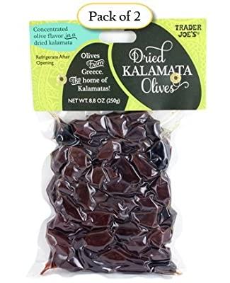 Trader Joe's Dried Kalamata Olives From Greece, 8.8 oz Bag (Pack of 2)
