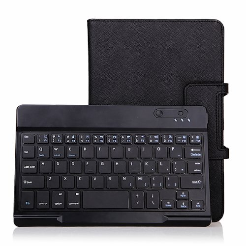 Agptek® Wireless Bluetooth Keyboard Portfolio Stand Case For Dell Venue 8 Pro Windows Tablet & Venue 8 3830 Android Tablet - Black