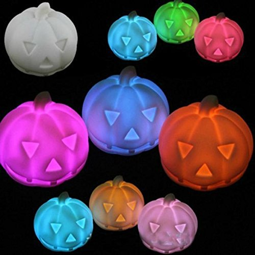 [Romantic Color Change Flash Pumpkin LED Night Light Small Decor Lamp HOT ;TM79F-32M UGBA387041] (Blow Up Halloween Costumes From The 80s)