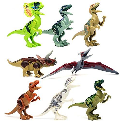 SweetToy 8pcs/lot Dinosaurs of Jurassic Park World Mini Figure movie Kid Baby Toy Building Blocks Sets Model Toys Minifigures Brick