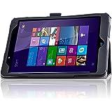 ELTD Linx 8 inch Tablet Case - Slim Folio Cover For Linx 8 inch Tablet (For Linx 8-inch, Black)