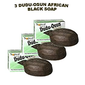 Dudu-Osun African Black Soap (100% Pure) Pack of 3