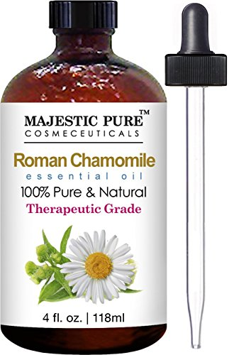 Chamomile Essential Oil From Majestic Pure, Roman Premium Quality, Therapeutic Grade, 4 Fl. Oz