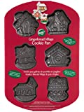 Wilton 6 Cavity Gingerbread Village Cookie Pan