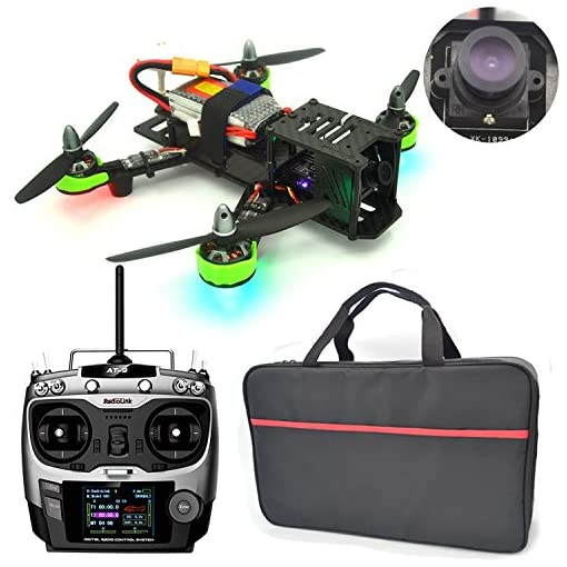 Xiangtat-QAV-220-mm-FPV-Full-Carbon-Fiber-Quadcopter-Race-Copter-Racing-Drone-with-Radiolink-AT9-Transmitter-2204-2300KV-Brushless-Motor-20A-ESC-1000TVL-Camera-TS5828-FPV-32CH-600mW-TX-Unassembled