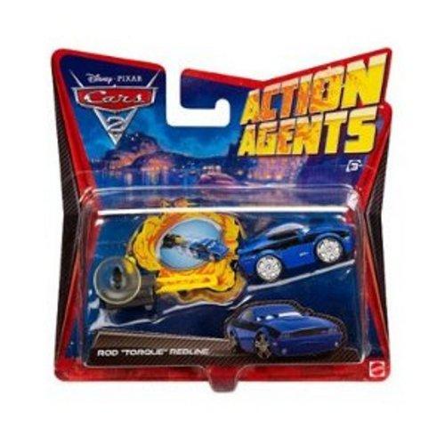 Disney / Pixar CARS 2 Movie Action Agents Rod Torque Redline