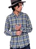 (エイト) 8(eight)3color チェック ネルシャツ 長袖シャツ コットン アメカジ イエロー L