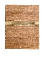 QURAMA Alfombra Grass Beige/Marrón 124 x 85 cm