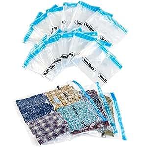 VonHaus 12 Sacs de rangement gain de place pour vêtement