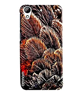 Omnam Leaves Bunch Printed Designer Back Cover Case For HTC Desire 626
