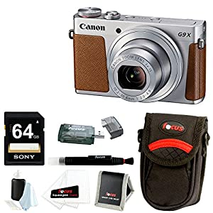 Canon PowerShot G9 X 20.2 MP Digital Camera (Black) with 32GB SDHC Card and Focus Accessory Bundle