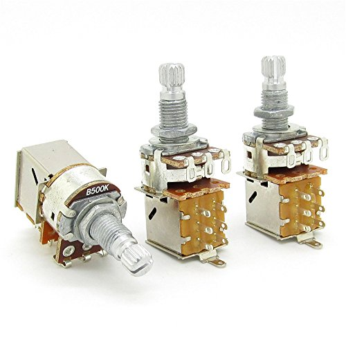 B500K Push Pull Potentionmeter Volume Tone Shaft Switch Pots Guitar Bass Pack Of 3 (Pot Switch compare prices)