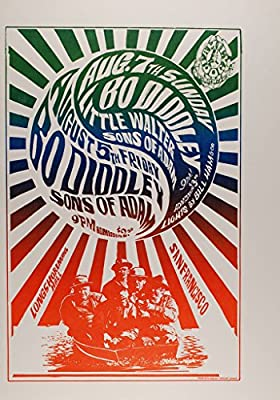 Bo Diddley 1966 Concert Poster, Avalon Ballroom *Mint Condition* (FD-20)