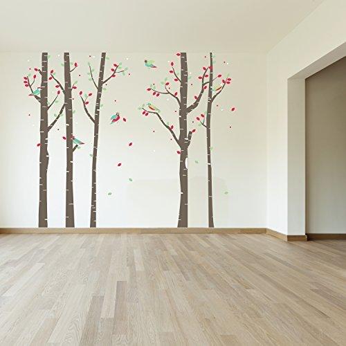 wand sticker l rche wald wand kunst wandmalerei entfernbarer selbstklebend aufkleber. Black Bedroom Furniture Sets. Home Design Ideas