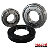 "Nachi High Quality Front Load Bosch Washer Tub Bearing and Seal Kit Fits Tub 245703 (5 year replacement warranty and full HD ""How To"" video included)"