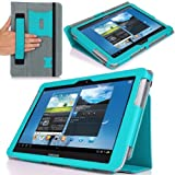 MoKo Slim Cover Case For Samsung Galaxy Note 10.1 N8000 N8010 N8013 Tablet Light BLUE (with Flip Stand And Integrated...