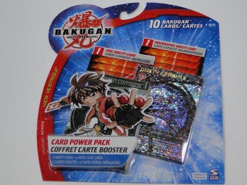 Bakugan Cards- Bakugan Battle Brawlers Card Power Pack 1 Set of 10 Cards- Ventus Series - 1