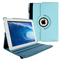 SANOXY® 360 Degrees Rotating Stand PU Leather Case for iPad 2/3/4, iPad 2nd generation (iPad 2/3/4 BLUE) from SANOXY