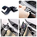 Car Mount, Xenomix (TM) C Lock Universal CD & Air Vent Smartphone Car Mount Holder Cradle For Samsung Galaxy S5...