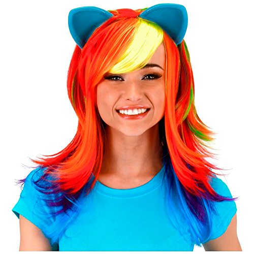 Rainbow Dash Adult Costume Wig