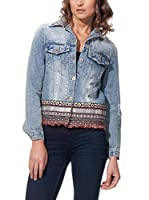 JUBYLEE Cazadora Vaquera With Ethnic Detail (Denim)