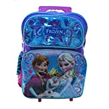 Ruz Disney Frozen Elsa and Anna Roller Backpack Bag