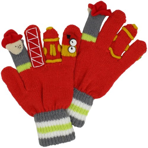 Kidorable Little Boys' Fireman Gloves, Red, Medium