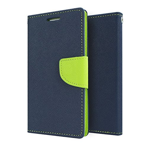 Mercury Goospery Fancy Diary Wallet Flip Case Cover for Lenovo A6000 / A6000 Plus - Blue/Green  available at amazon for Rs.165