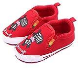 Femizee Infant Newborn Baby Boy Girl Soft Anti Slip Crib Shoes Sneakers Red Donkey 0 6 Months