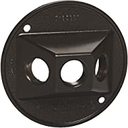 Hubbell 5948-6 Do it Weatherproof Electrical Cover-BRZ OUTDOOR RND COVER
