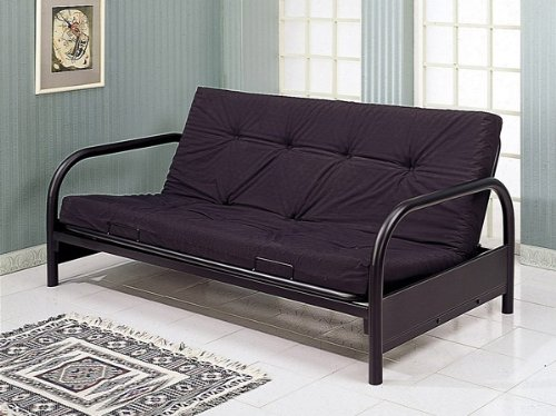 Great Features Of Coaster Modern Futon Sofa/Couch Frame, Black Metal