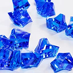 Firefly Imports 50-Piece Acrylic Crystal Ice Rocks Table Scatter, Royal Blue, 1-Inch