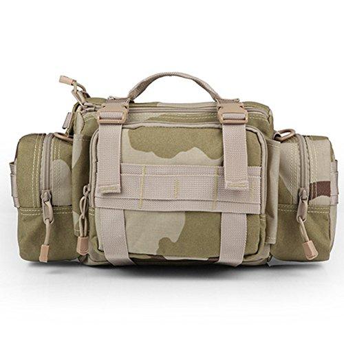 YAAGLE Outdoor Hüfttasche 3P Nylon Schultertasche Kuriertasche Umhängetasche Freizeit Reisetasche Sporttasche-Tarnung 4