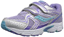 Saucony Girls Cohesion 6 H&L Running Shoe (Little Kid/Big Kid),Purple/Blue,6.5 W US Big Kid