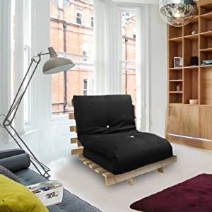 Shopisfy Single Bed Futon With Slatted Base And Mattress - 1 Seater