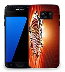 Snoogg karaoke background Designer Protective Back Case Cover For Samsung Galaxy S7