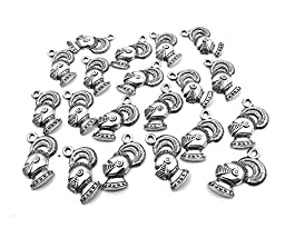 Set of Twenty (20) Silver Tone Pewter Knights Helmet Charms