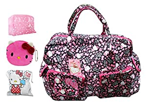 2014 Hello Kitty Ultra-large Capacity Diaper Tote Bags Shoulder Bag /Handbag Weekend Travel Bag (Floral) by LL-Bag
