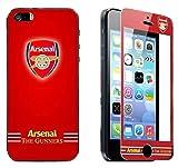 【 Arsenal FC / アーセナル 】 iPhone5/5s 対応 液晶保護 ガラス フィルム (耐衝撃・指紋軽減・撥水・気泡防止性有)