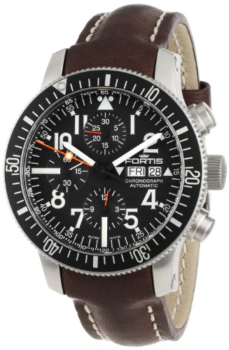 Fortis Men's 638.10.41 L.16 B-42 Official Cosmonauts Brown Automatic Chronograph Date Leather Watch