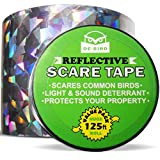 De-Bird - Bird Repellent Scare Tape - Better Looking Deterrent Than Netting or Spikes - No Need for a Scarecrow - Simple Bird Control Device - Stops Damage and Scares Birds Away - 125 Ft. (38.1m) Roll