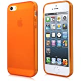 Cbus Wireless Matte Finish TPU Rubber Silicone Case / Skin / Cover for Apple iPhone 5S / iPhone 5 - Orange