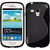 PhoneNatic Silikon Schutzhülle für Samsung Galaxy S3 Mini S-Style schwarz