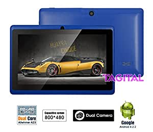 """Tagital® 7"""" Android 4.2 4GB MID Capacitive Touch Screen A13 Tablet WiFi Dual Camera Blue"""