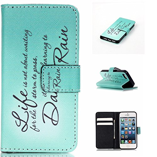 iPhone 6S Plus Case,Angelan® iPhone 6S Plus Wallet Case Slim Fit lighetweigh [Stand Wallet] [Card Slots]Pu Leather Case for 5.5 inch iPhone 6/6S Plus (2015) (dancing in the rain)