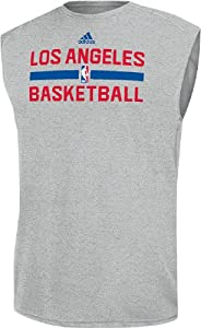 Los Angeles Clippers Grey Climalite Practice Sleeveless Shirt by Adidas by adidas